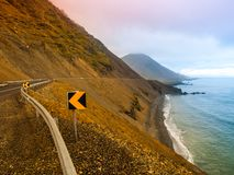 Coastline road in Iceland Stock Images
