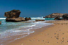 Coastline Rock Formations in South Africa Stock Photo