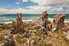 Coastline rocks Stock Photo