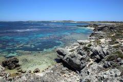 Rottnest Island. Coastline at Rottnest Island near Perth in Western Australia Stock Photo