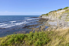 Coastline at Saint Jean de Luz in France Royalty Free Stock Image