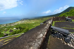 Coastline of Saint Kitts Stock Images