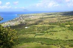 Coastline of Saint Kitts. Beautiful coastline of Saint Kitts from Brimstone Hill Fortress National Park Stock Images
