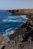 Coastline on Sal. Steep coast on Sal on Cabo Verde Stock Photos