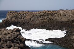 Coastline on Sal. Steep coast on Sal on Cabo Verde Royalty Free Stock Images
