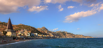 Coastline of San Giovanni Beach in Giardini Naxos Stock Photography