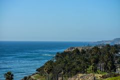 December 27, 2018 San Pedro, Ca. The coastline of San Pedro, Ca. is a scenic landscape of the ocean. royalty free stock images