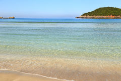 Coastline with sandy beach Stock Photo