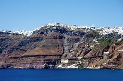 Coastline of Santorini Royalty Free Stock Photos