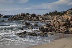 Coastline sardinia Italy. Scenery along the coastline in Sardinia Italy Royalty Free Stock Images