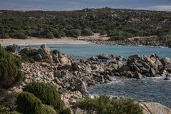 Coastline in Sardinia Italy. Scenery along the coastline in Sardinia Italy Stock Image