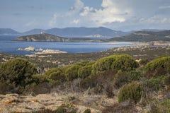 Coastline in Sardinia Italy. Scenery along the coastline in Sardinia Italy Royalty Free Stock Photos