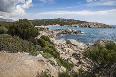 Coastline sardinia Italy. Scenery along the coastline in Sardinia Italy Stock Photo
