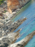 A coastline in Scala, Kefalonia Royalty Free Stock Images