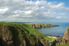 Coastline of Scotland during b Stock Photography