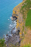 Coastline and Sea Caves Royalty Free Stock Image