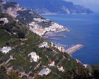 Coastline and sea, Lone, Amalti coast, Italy. Stock Photos