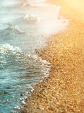 Coastline and sea water Royalty Free Stock Image