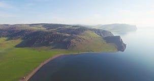 The coastline of Baikal stock video footage