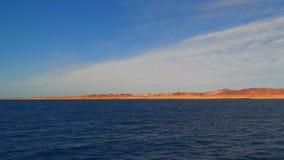 The coastline of the Sinai Peninsula Egypt stock footage