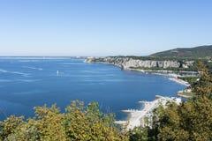 The coastline in Sistiana. royalty free stock image