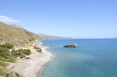 Coastline in the south of Crete Stock Image