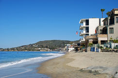 Coastline south of the Main Beach in Laguna Beach, California. Stock Images