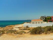 Coastline in Spain. By the Mediterranean Sea Stock Photos