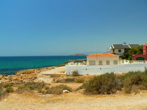 Coastline in Spain stock photos