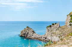 Coastline between Sperlonga and Gaeta Stock Images