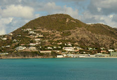 Coastline from St Maarten, Caribbean Stock Photo