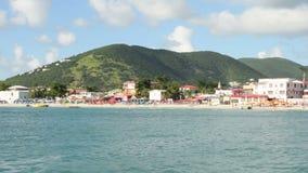 Coastline of St Maarten stock video