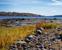 Coastline at Stockton Springs Maine Stock Photos