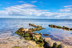 Coastline with stones Stock Photography