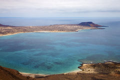 Coastline and summer in lanzarote spain graciosa Royalty Free Stock Image