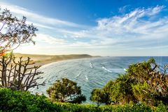Coastline on sunny day Royalty Free Stock Images