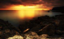 Coastline Sunrise Royalty Free Stock Photo