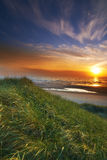 Coastline sunset - Denmark Royalty Free Stock Photography