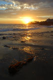 Coastline at sunset in Laguna Beach, California. Royalty Free Stock Photography
