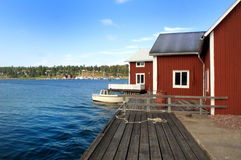 Coastline in Sweden. A picture of coastline in northern Sweden Royalty Free Stock Images
