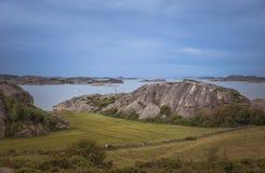 Coastline in sweden above fjallbacka Royalty Free Stock Images