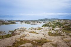 Coastline in sweden above fjallbacka Royalty Free Stock Photos