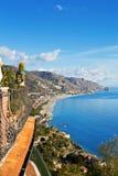 Coastline Taormina, Sicily, Italy Stock Photo