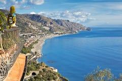Coastline Taormina, Sicily, Italy Royalty Free Stock Photos