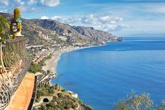 Coastline Taormina, Sicily, Italy Royalty Free Stock Images