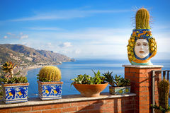 Coastline Taormina, Sicily, Italy Royalty Free Stock Photo