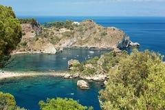 Coastline Taormina, Sicily, Italy Royalty Free Stock Photo