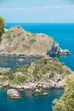 Coastline Taormina, Sicily, Italy Stock Image
