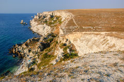 Coastline of Tarhankut Royalty Free Stock Photos