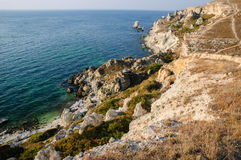 Coastline of Tarhankut Royalty Free Stock Photo